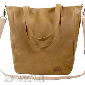 torebki duża miodowa torba na zamek 2627, torba, torebka
