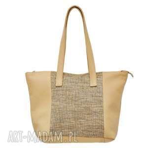 33-0001 damska torebka w kolorze kremowym ze skóry naturalnej tern, modne