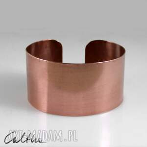 ręcznie robione bransoletki satyna - miedziana bransoletka