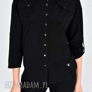 hand made bluzki koszula gaja bawełniana czarna