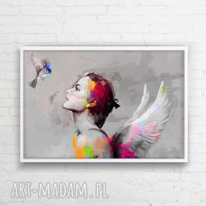 Obraz na płótnie 100x70 cm, sztuka, obraz, płótno, wnętrze, salon,