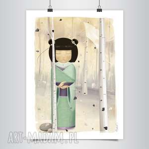 lapatiq - Kokeshi: Sen o Wietrze Grafika B2, grafika, japońska, kokeshi, zen, dom