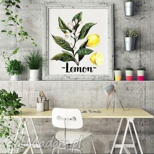 prezenty pod choinkę Plakat Lemon , cytrynki, święta, prezent, ilustracje, kuchnia