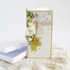 kartka ślubna w pudełku 452 vairatka handmade, prezent