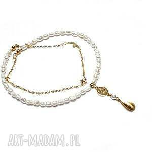 Perle gold - naszyjnik naszyjniki katia i krokodyl srebro