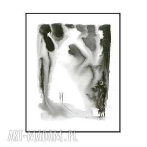 grafika razem 40cm x 50cm, ręcznie malowane, oryginał, grafika, para, obrazy