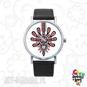 ludowelove zegarek z grafiką parzenica, polski, folklor, ludowy, modny, dodatek