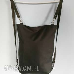 ręcznie zrobione plecaki plecako torebka cordura grafitowa
