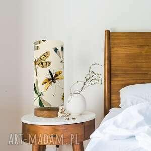 lampa stołowa vintage ważki