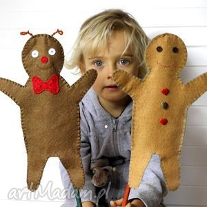 zabawki filcowa pacynka pan biedronka - maskotka do kreatywnej zabawy