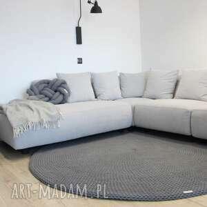 dywan gruby ze sznurka 9 mm round braid gray, sznurka, handmade