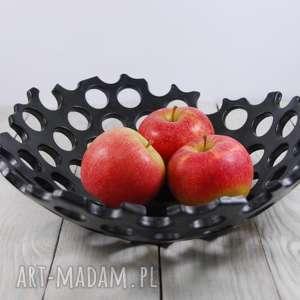 Prezent Duża ażurowa misa ceramiczna , prezent, salon, jadalnia, owoce, cukierki