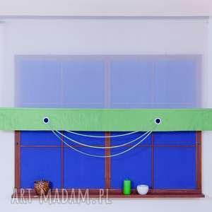 Panel Ekran z Kółeczkami Zieleń, panel, ekran, kółeczka, woal, lamówka, firana