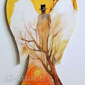 opiekun obraz farbami akrylowymi na drewnie artystki adriany laube - akryl