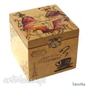 cafe parisienne - pudełko, szkatułka, prezent, paryż