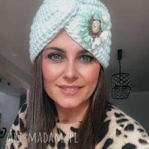 Czapki lubaknits ciepła czapka, czapka turban, damska