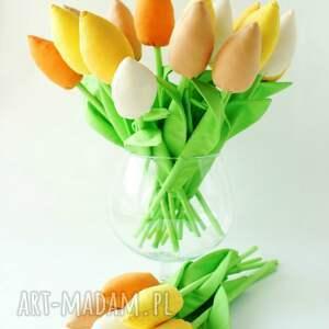 kuferek malucha tulipany- wielki bukiet 20 szt bawełnianych kwiatów, bukiet, kwiaty