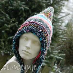 czapa boho elf, baśniowa, kolorowa, pojedyncza, boho, etno, multicolor