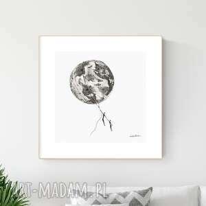 grafika 30x30 cm wykonana ręcznie, abstrakcja, obraz do salonu, 2649162