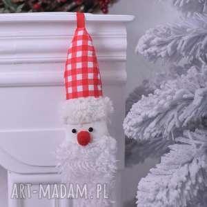 ozdoby świąteczne mikołaj świąteczny w kratkę, mikołaj-zawieszka, święta