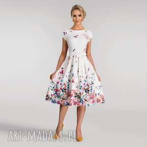 livia clue sukienka marie midi otylia góra w kwiaty, sukienka