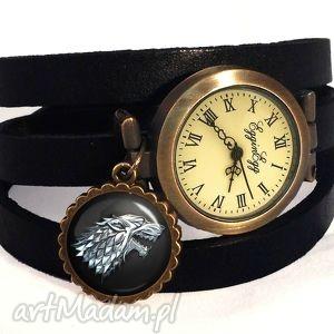 ręczne wykonanie zegarki stark gra o tron - zagarek / bransoletka na skórzanym pasku