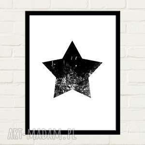 Black star plakat 30x40 plakaty gau home