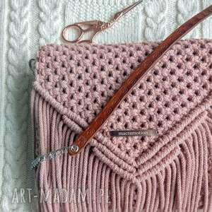 Torebka macramotion blush mini torebka, makrama, boho, dodatki