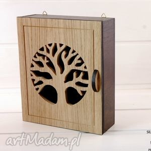 dekoracje szafka na klucze natural tree - drzewo, wenge, klucze