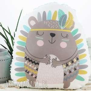 hand-made pokoik dziecka poduszka przytulanka, indiański jeżyk, bawełna, miętowe