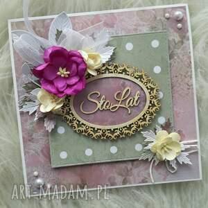 Kartka urodzinowa/imieninowa, urodziny, imieniny, życzenia, kwiaty, kartka, kartki