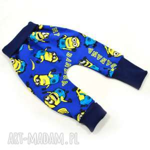 MINIONKI spodnie baggy pumpy, rozmiary 62-104, bawełniane, spodnie,