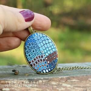 medalion ,naszyjnik - łańcuszek, medalion, naszyjnik, wisiorek, kwadratowy