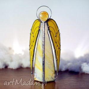 Prezent ANIOŁ URIEL, dekoracje, lampion, rękodzielo, witraż, anioły, prezent