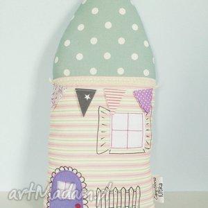 podusia domek - ,poduszka,dom,domek,pastelowy,dekoracyjna,podusia,