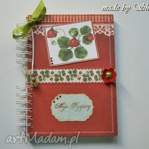 przepiśnik- truskawki i kiwi, przepiśnik, książka, kucharska, notatnik, notes