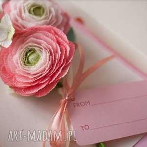 karteczki 3d, prezent flowers, papier, pocztówka