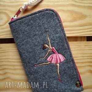 filcowe etui na telefon - baletnica, smartfon, pokrowiec, futerał, haft, prezent