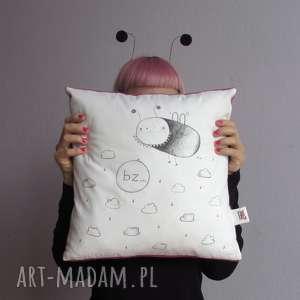 poduszka z muszką, mucha, chmurki, prezent, śmieszny, jasiek, muszka, święta