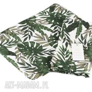 Otulacz bambusowy premium botaniczne liście zestaw z poduszką