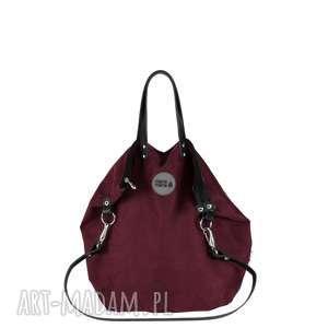 Plecak torba 2 in1 bakłażan pracownia mana wygodny, pojemny
