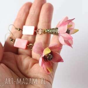 kolczyki kwiatowe nie pierwszy raz zrobił sie kwas, kwiatowe, letnie, prezent, lato