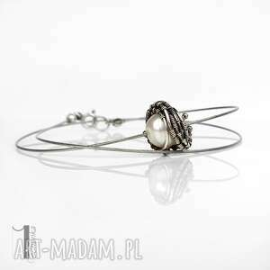 bianca i - srebrny naszyjnik z perłą naturalną - słodkowodna perła