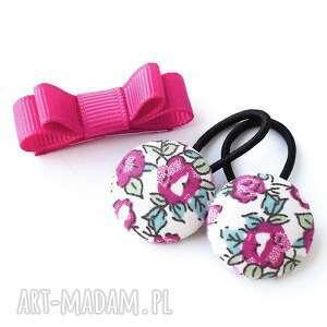 Komplet do włosów gumeczki i spineczka dla dziecka momilio art