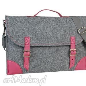 Filcowa torba na laptopa - szyta miarę różne kolory, torba, skóra, filc, grawer