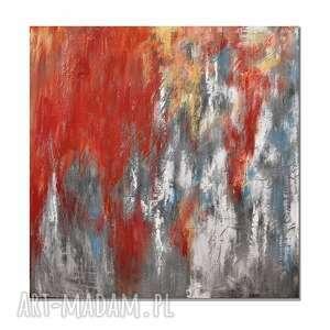 Tierra del hierro, abstrakcja, nowoczesny obraz ręcznie malowany