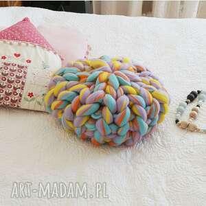 poduszki poduszka czesankowa candy, poduszka, jednorożec, czesankowa, wełniana