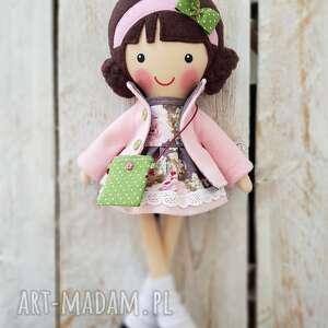 handmade lalki malowana lala antosia z torebką