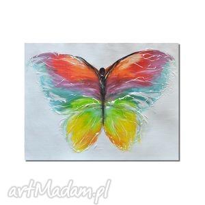 obrazy motyl, nowoczesny obraz ręcznie malowany, obraz, nowoczesny
