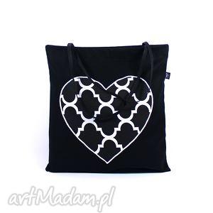 torba codzienna zakupówka z dużym sercem, siatkanazakupy, zakupowatorba